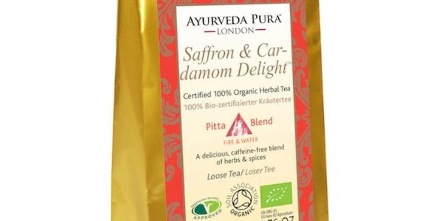Saffron & Cardamom Delight™ - Certified Organic Herbal Tea - Pitta - 50g Loose