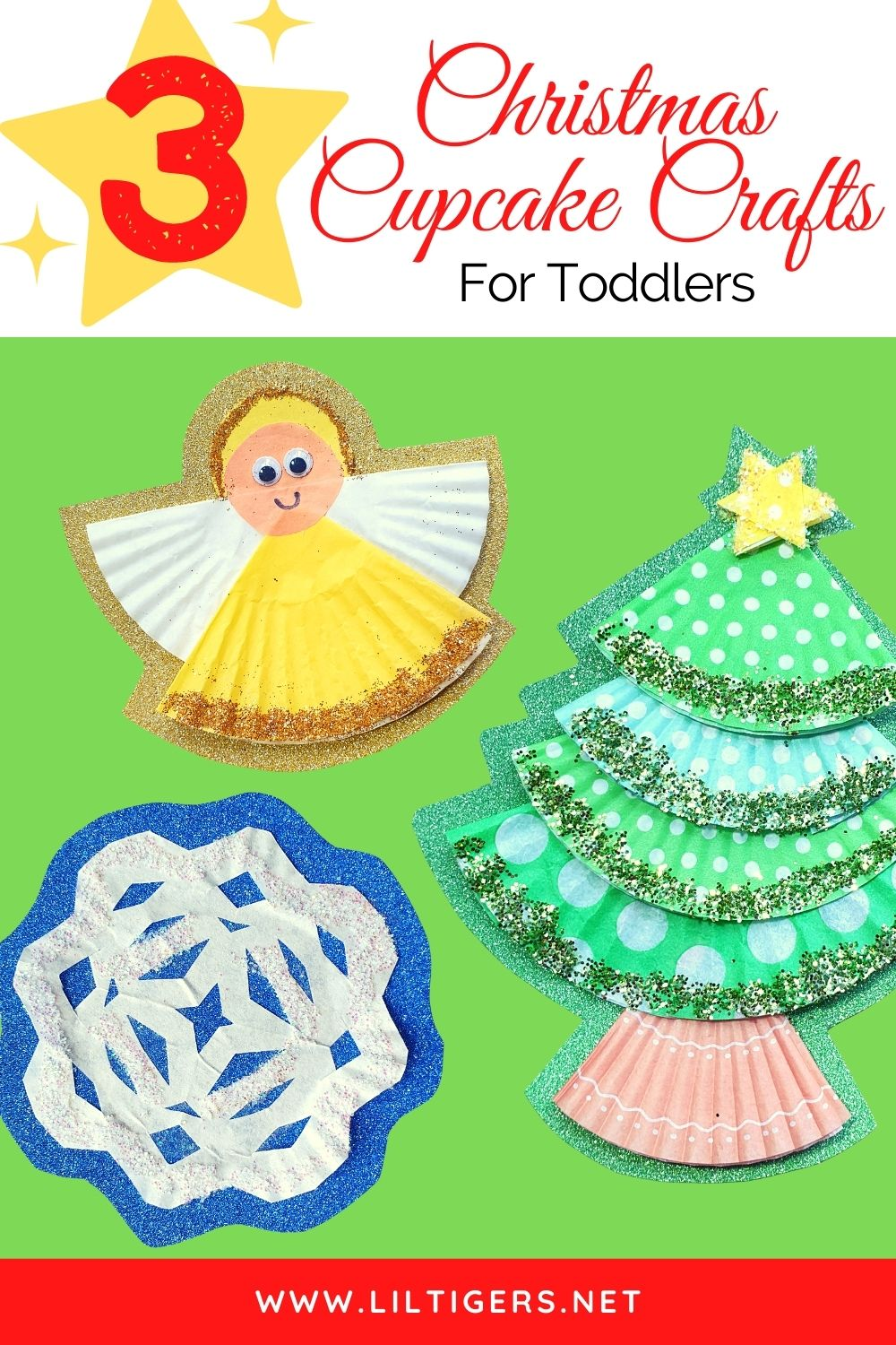 3 Super Easy Cupcake Liner Christmas Crafts For Toddlers