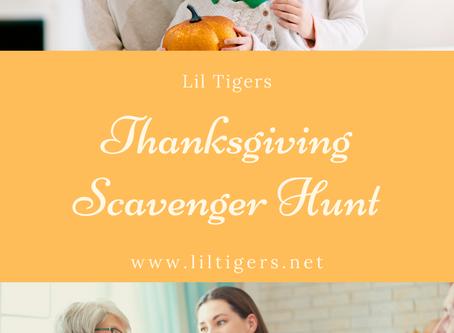 Thanksgiving Scavenger Hunt for Kids