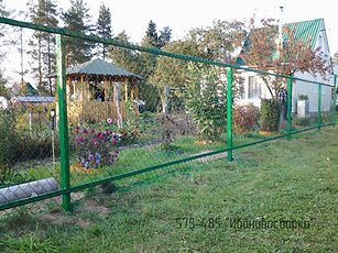 забор зеленый