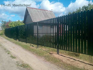 штакетник зеленый ворота