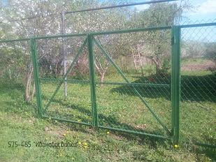 ворота зелёные