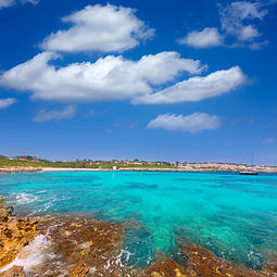 Canva - Binibeca Beach in Menorca at Bin