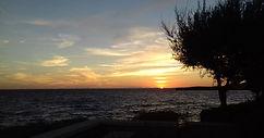 Santo tomas sunset on beach