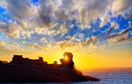 Cala Morell Menorca Sunset.JPG