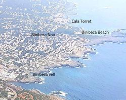 Binibeca Vell Menorca Map