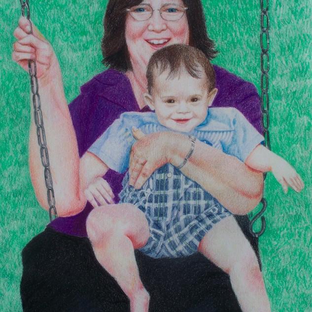 Grandma and Evan on swing for website.JP