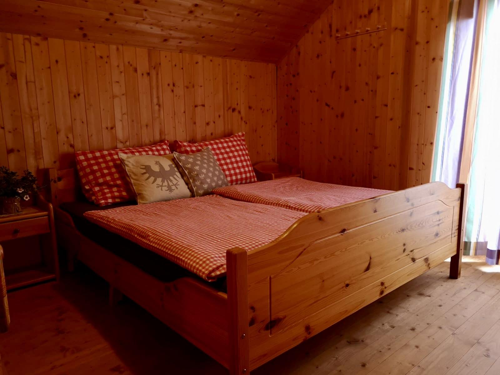 Doppelzimmer auf der Griebitsch Alm.