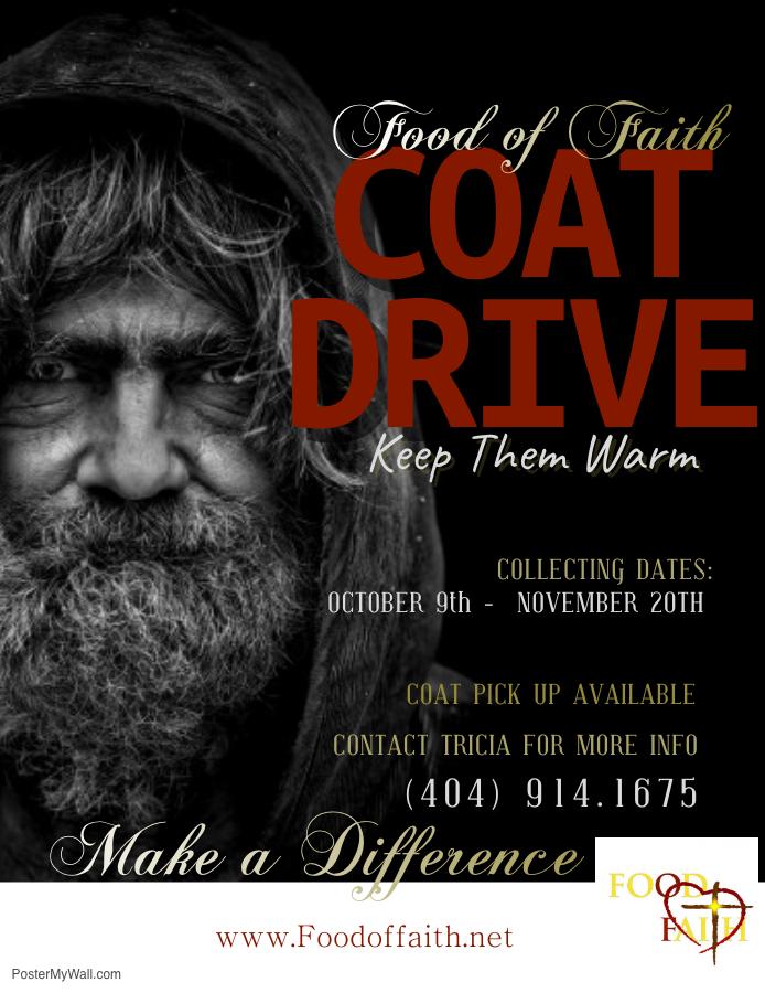 Food of Faith Coat Drive #foodoffaith #c