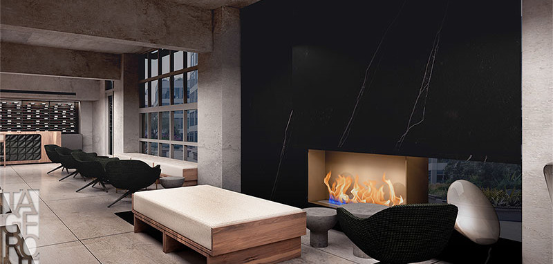 Conference Room Restaurant Fireplace