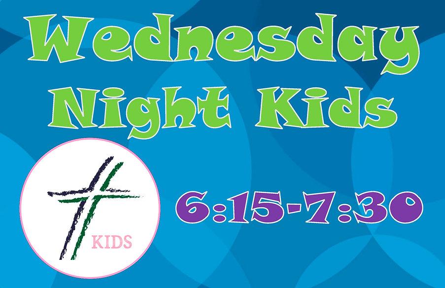 wednesday night kids poster 3 horizontal