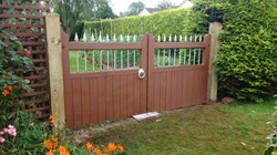 Gate installation and painting