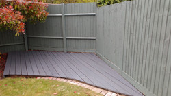Deck installation and staining