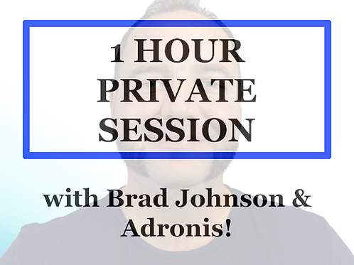 1 Hour Private 1 to 1 Session with Brad Johnson
