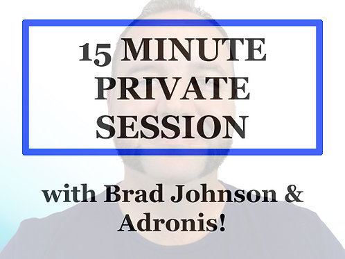 15 minute 1 to 1 Session w/ Brad Johnson