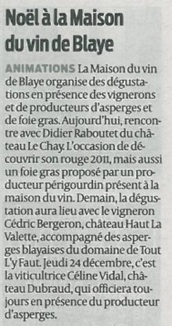 Animation Noël2015 Boutique VinBlaye