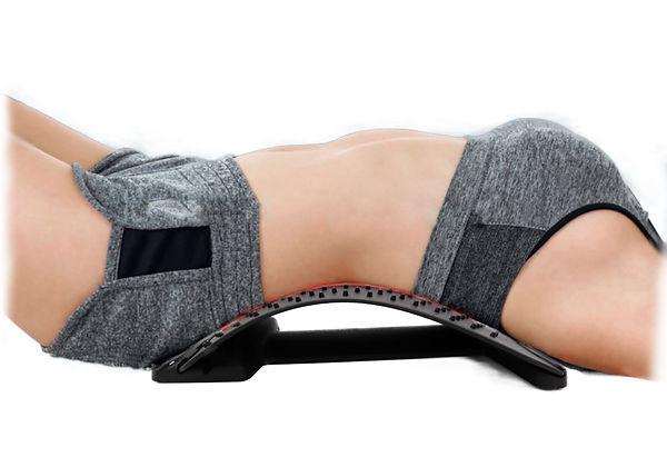 back stretcher with perdson bl;ur edges.