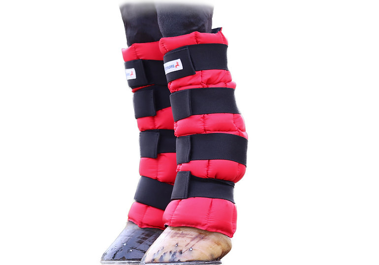 ice boots front side view cut out of leg