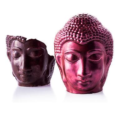 Buddha Rot Metallik mit zebrochenem Budd
