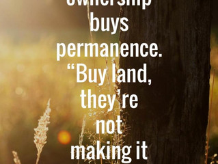 Home ownership buys...