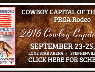 Mark your calendars for the Cowboy Capital of The World PRCA Rodeo - September 17-25, 2016