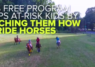 This free program helps underprivileged kids learn how to ride horses — and take care of them, too.