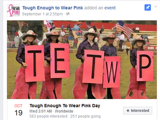 Tough Enough to Wear Pink Day – Oct 19