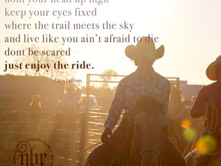 Sit tall in the saddle...