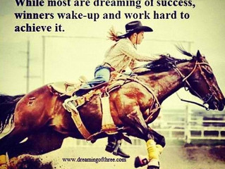 While most are dreaming of success, winners wake-up and work hard to achieve it.