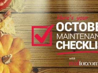 October Maintenance Checklist