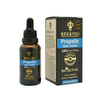 Propolis Water Soluble Extract 10% Pure Liquid Extract Alcohol-Free - 30 ml