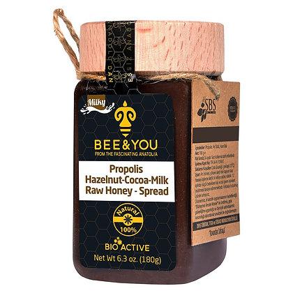 Propolis Hazelnut Cocoa Milk Raw Honey Spread