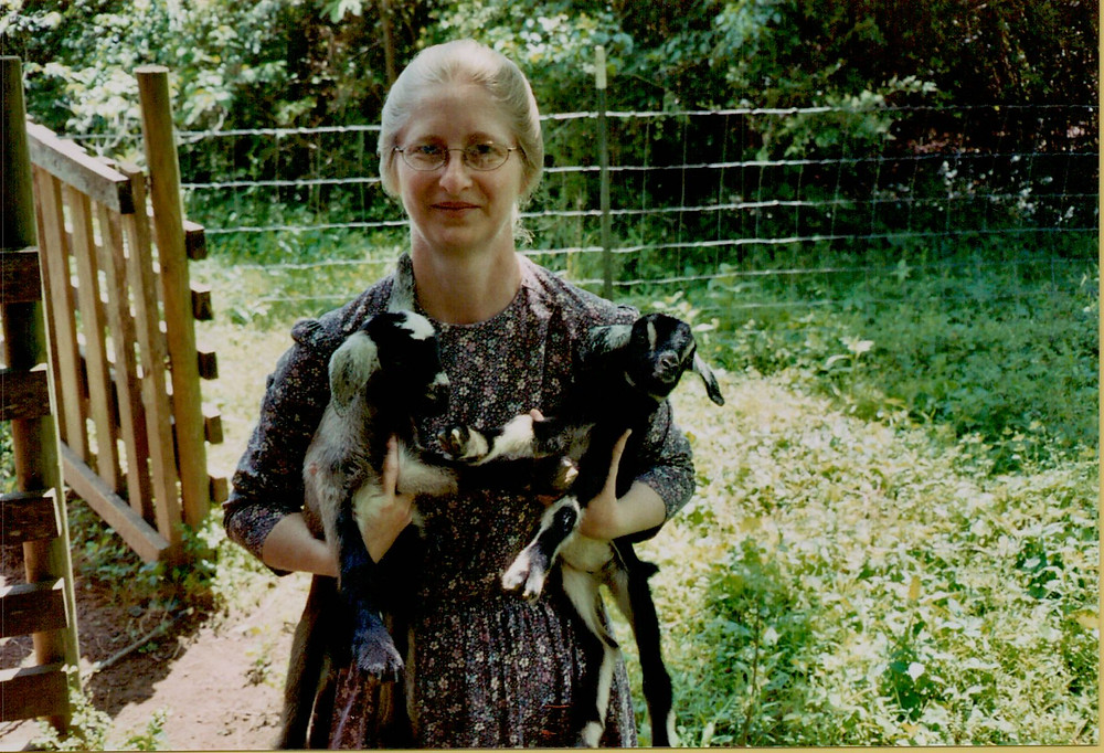 """Linda Corn, Roger's wife and """"the babies""""."""