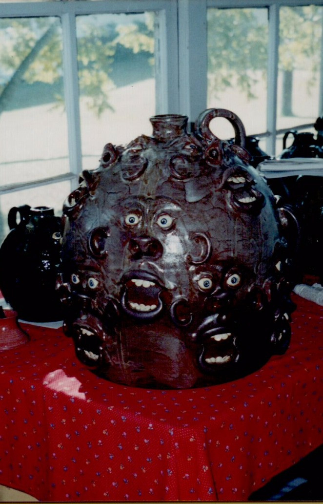 12-Face Jug by Roger Corn, October 1998