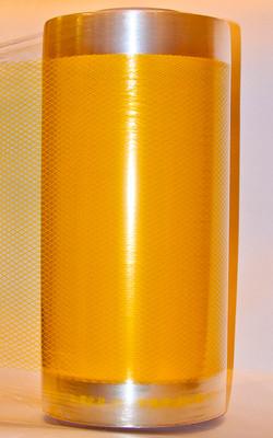 Стрейч-пленка сетка желтая