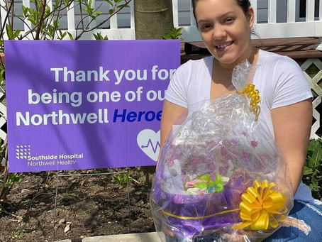 Frontline SHEro, Clara Victoria Scavelli RN Southside Northwell Winner of Mother's Day 2020 Giveaway