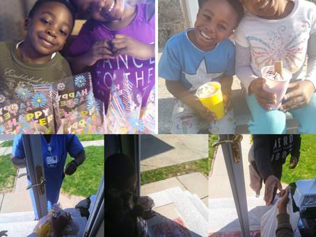 Easter treat giveaway 2020 recipient pics