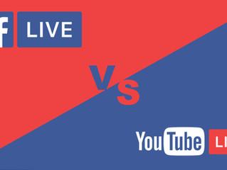 Facebook Live vs Youtube Live (or... Instagram)