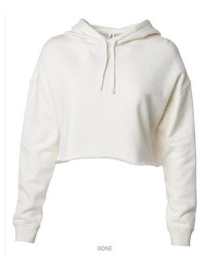Cropped Hooded Sweatshirt - Bone