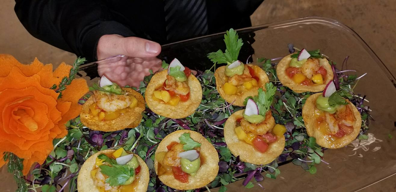 Blackened Shrimp Tostada