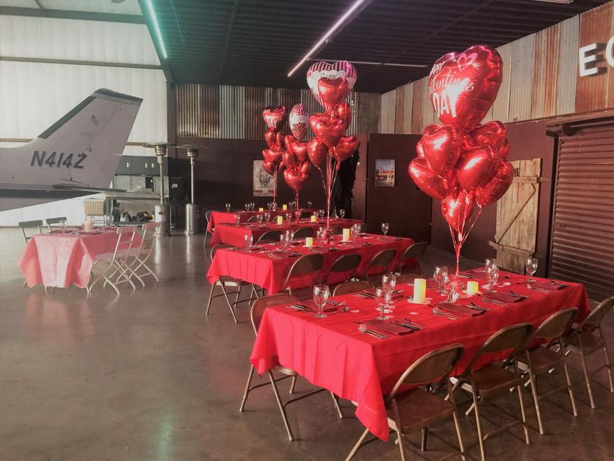 Couples Valentines Dinner, Private Hange