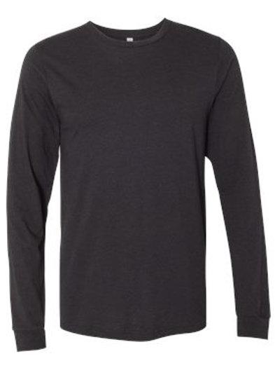 Jersey Long Sleeve Tee -Black Heather