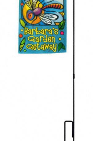 Garden Flag with Hanger Pole
