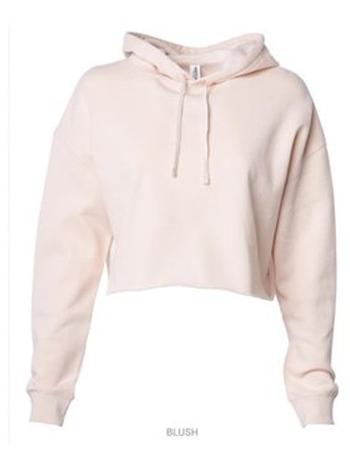 Cropped Hooded Sweatshirt - Blush
