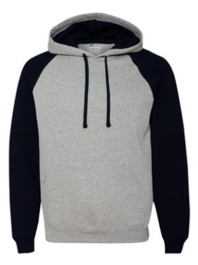 Raglan Hooded Sweatshirt - Oxford Black