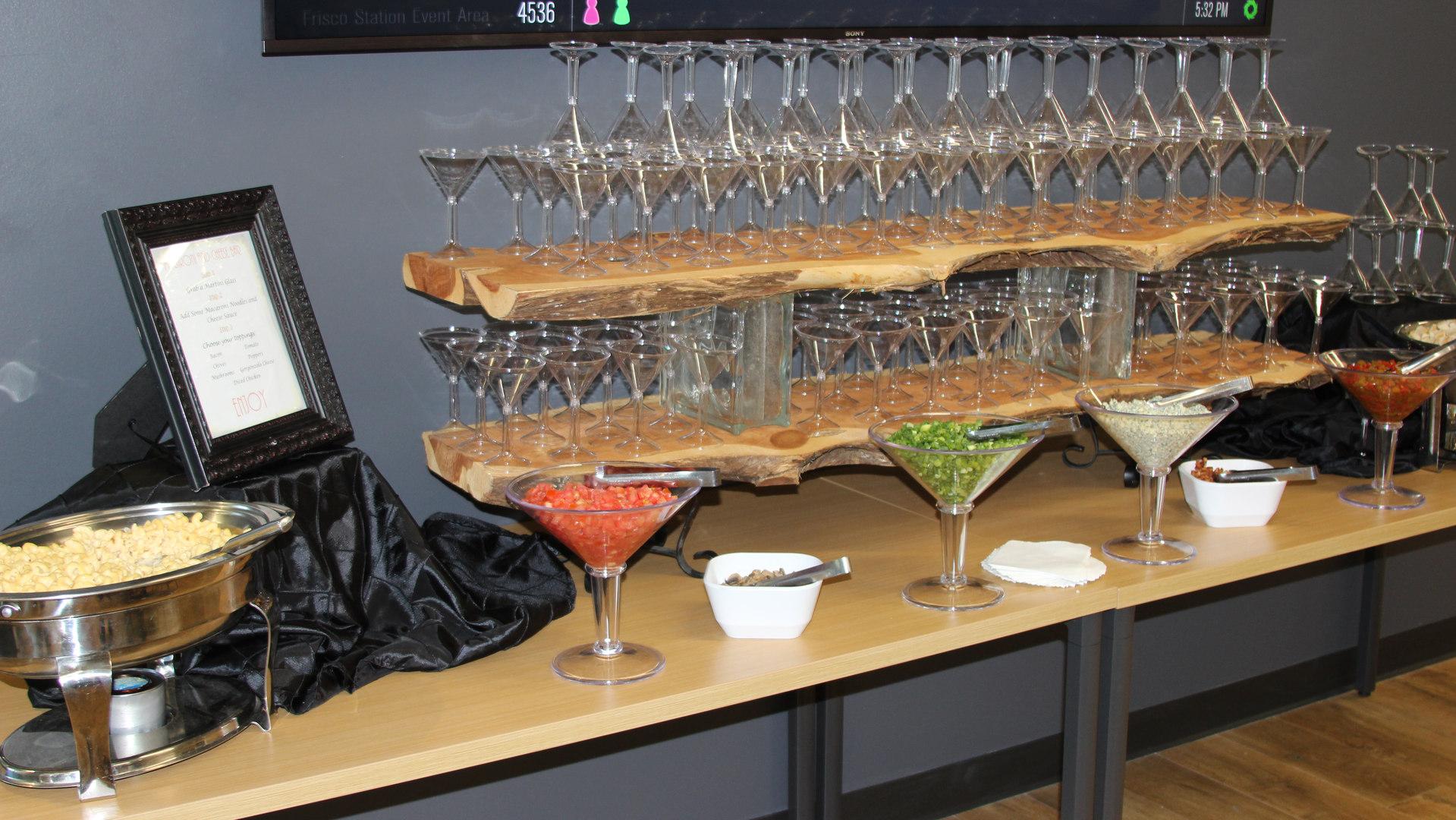 Mashed Potato Martini Bar