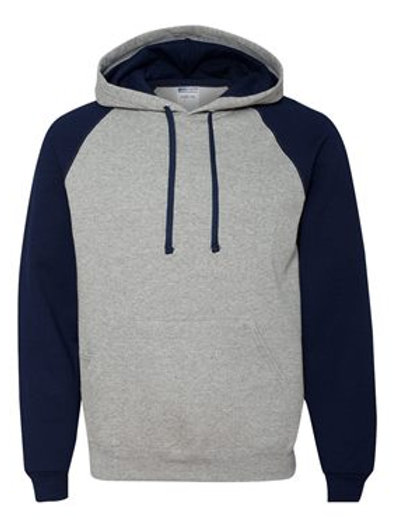Raglan Hooded Sweatshirt - Oxford Navy