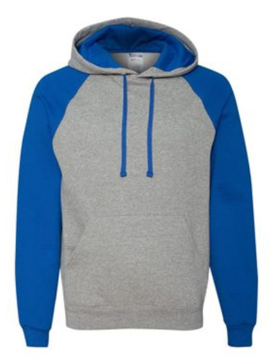 Raglan Hooded Sweatshirt - Oxford Royal