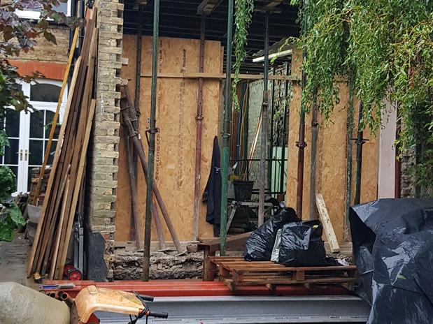 Timber Frame Bi-fold door - Before
