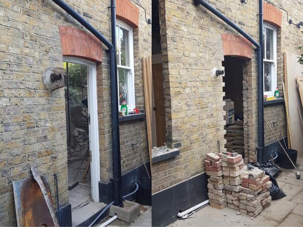 Bricking up - Before